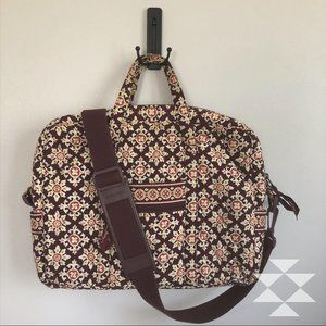 Vera Bradley Floral Quilted Laptop Crossbody Bag